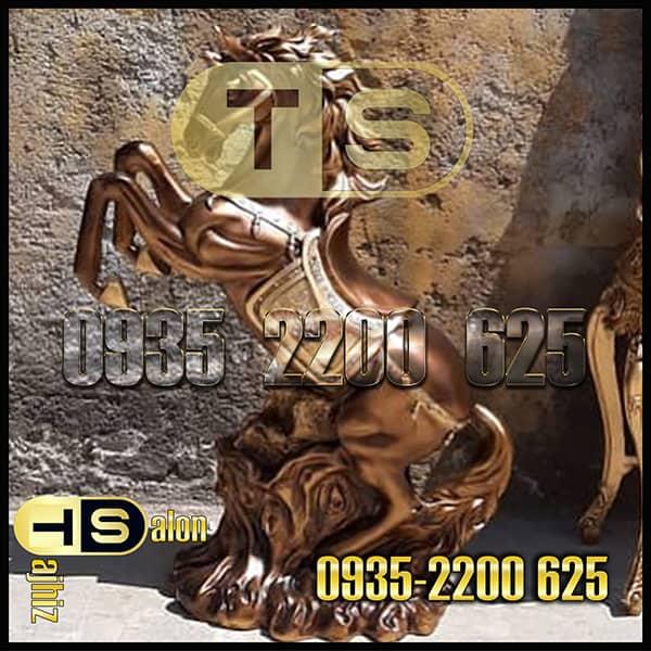 مجسمه فایبرگلاس اسب بادپا